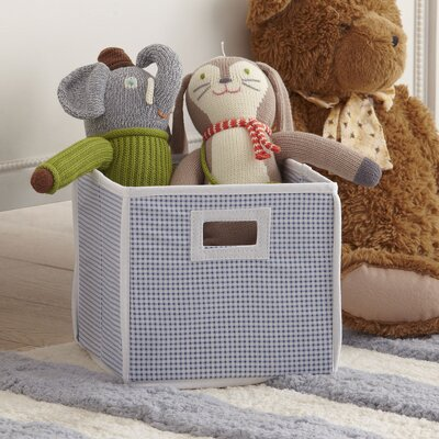 Gingham Basic Storage Cube Color: Blue