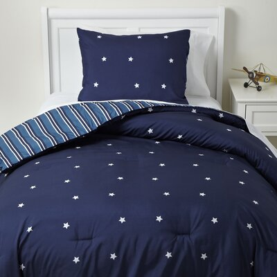 Shining Star Bedding Set Size: Twin, Color: Navy
