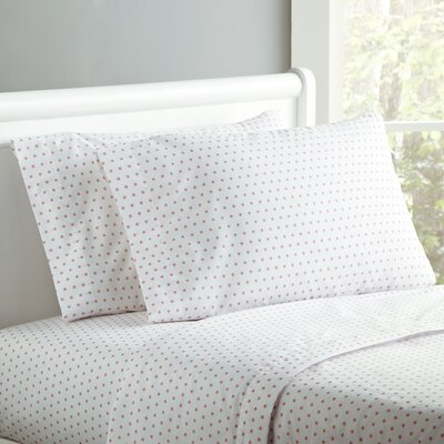 Starry Sky Sheet Set Size: Twin, Color: Pretty Pink