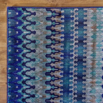 Arabian Nights Blue Rug Rug Size: 5'2