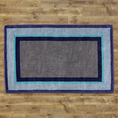Color Block Blue Rug Rug Size: Rectangle 8 x 11