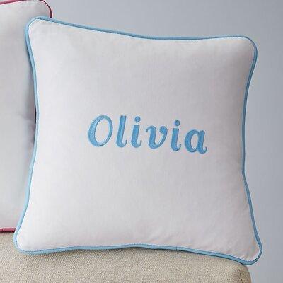 Corded Monogrammed Pillow Cover Color: Aqua