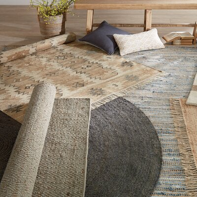 Amit Hand-Woven Brown Area Rug Rug Size: Runner 26 x 8