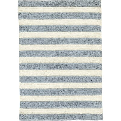 Lola Shag Hand-Woven Slate/IvoryArea Rug Rug Size: Rectangle 5 x 7
