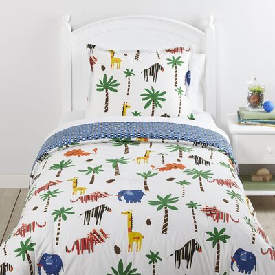 Jungle Jumble 2 Piece Reversible Comforter Set Size: Full/Queen