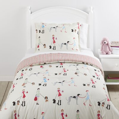 Fun Unleashed Reversible Comforter Set Size: Full/Queen