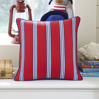 Nautical Stripe Pillow Cover Color: Red