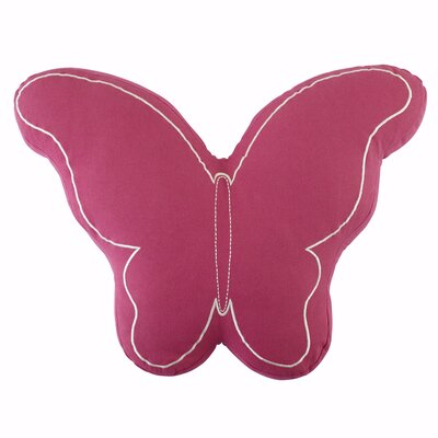 Butterfly Pillow Color: Magenta