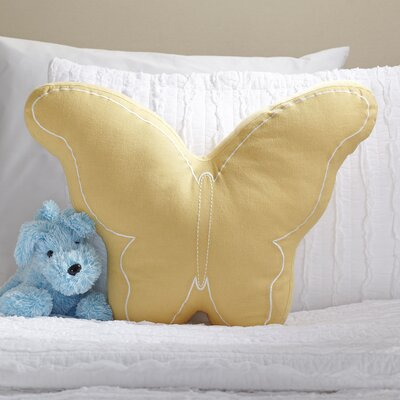 Butterfly Pillow Color: Yellow