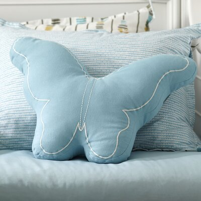 Butterfly Pillow Color: Turquoise
