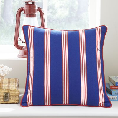 Nautical Stripe Pillow Cover Color: Blue