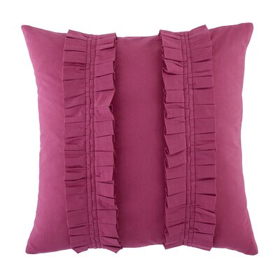 Pleated Perfection Pillow Cover Color: Magenta