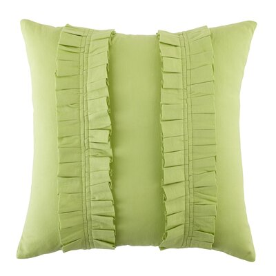 Pleated Perfection Pillow Cover Color: Green