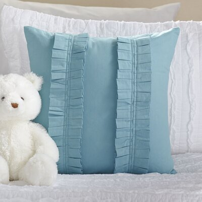 Pleated Perfection Pillow Cover Color: Aqua