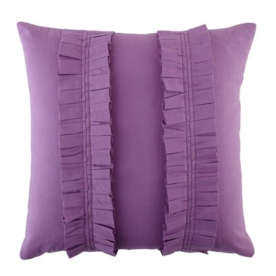 Pleated Perfection Pillow Cover Color: Purple