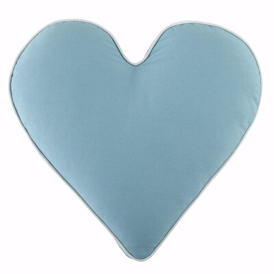 Heart Pillow Color: Aqua