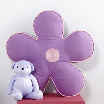 Flower Pillow Color: Lilac/Light Pink