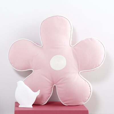 Flower Pillow Color: Light Pink/White