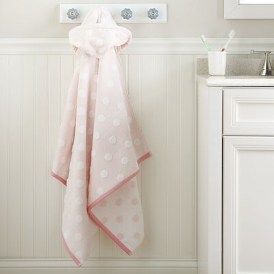 Dots Hooded Towel Color: Pink