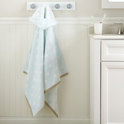 Dots Hooded Towel Color: Sea Glass