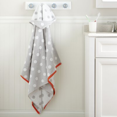 Dots Hooded Towel Color: Silver