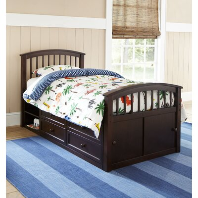 Hobbes Captains Bed Size: Full, Finish: Chocolate