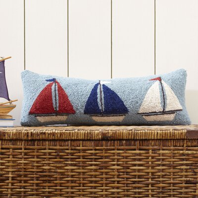 Sail Away Hooked Throw Pillow