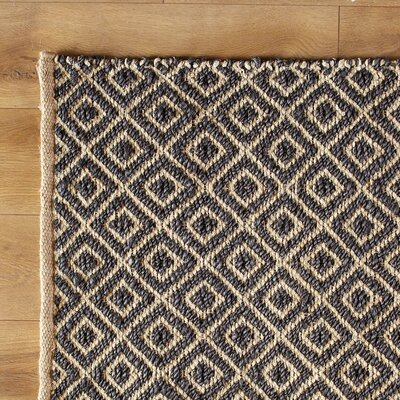 Diamonds in the Sky Hand-Woven Blue Navy Area Rug Size: 5 x 8