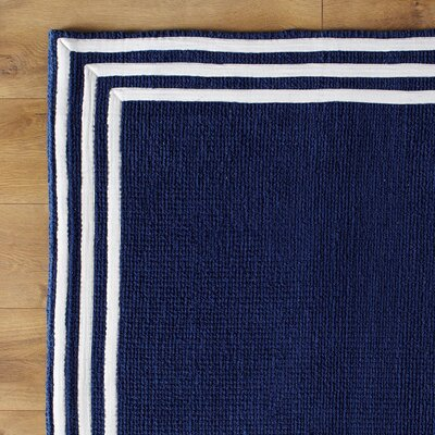 Three Strikes Navy Rug Size: 5 x 8