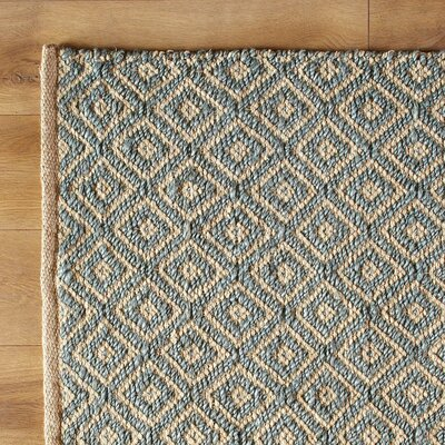 Diamonds in the Sky Hand-Woven Blue Area Rug Size: 33 x 53