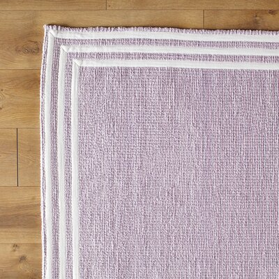 Three Strikes Hand-Woven Purple Area Rug Size: 5 x 8