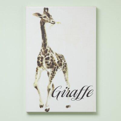 Giraffe Zookeeper Canvas Size: 15 H x 10 W