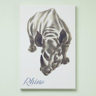 Rhino Zookeeper Canvas