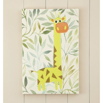 Giraffe Jungle Pop Canvas