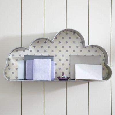 Silver Lining Cloud Wall Cubby (Set of 2)