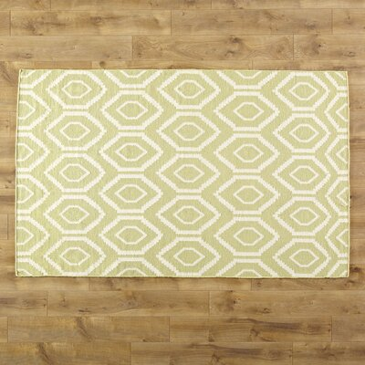 Yellow/Ivory Area Rug Rug Size: Round 6