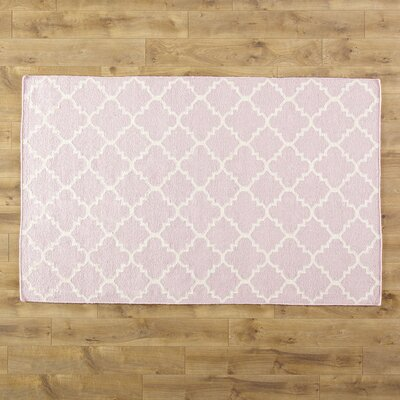 Pink/Ivory Area Rug Rug Size: Rectangle 26 x 4