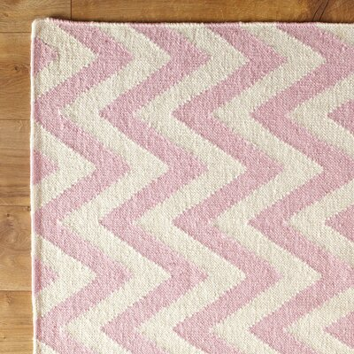 Moves Like Zigzagger Pink Area Rug Rug Size: Runner 26 x 8