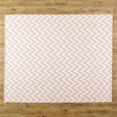 Moves Like Zigzagger Pink Area Rug Rug Size: Runner 26 x 6