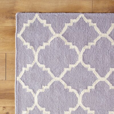 Purple/Ivory Area Rug Rug Size: 26 x 4