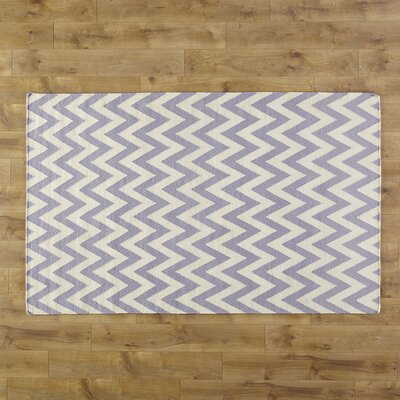 Moves Like Zigzagger Purple Rug Rug Size: Rectangle 6 x 9
