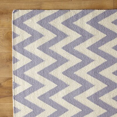 Moves Like Zigzagger Purple Rug Rug Size: 4 x 6