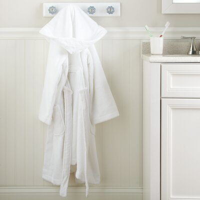 White Monogrammed Snuggly Bathrobe