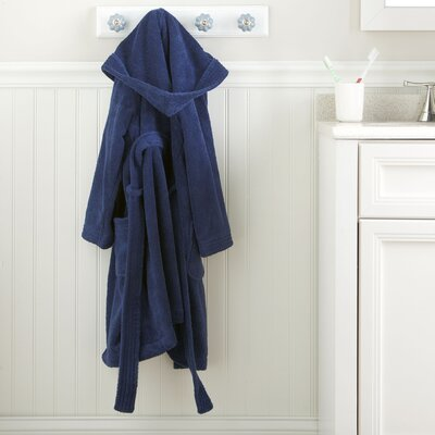 Navy Monogrammed Snuggly Bathrobe