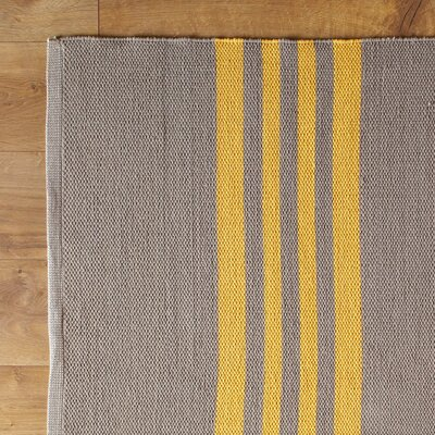 Lines Rule Yellow Reversible Rug Rug Size: 8' x 11'