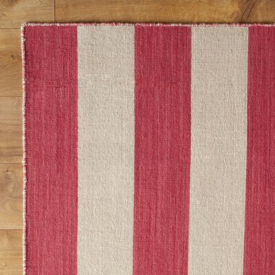 Earn Your Stripes Pink Reversible Rug