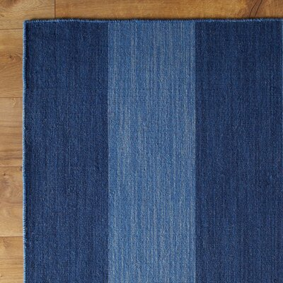 Earn Your Stripes Blue Reversible Rug
