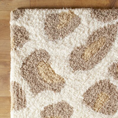 Change Your Spots Ivory Rug Rug Size: Rectangle 36 x 56