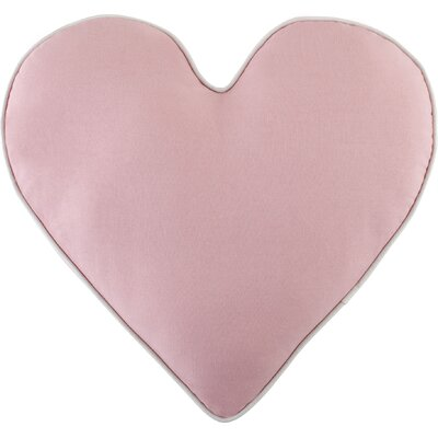 Heart Pillow Color: Pink
