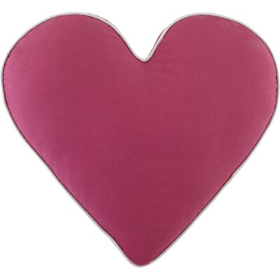 Heart Pillow Color: Magenta